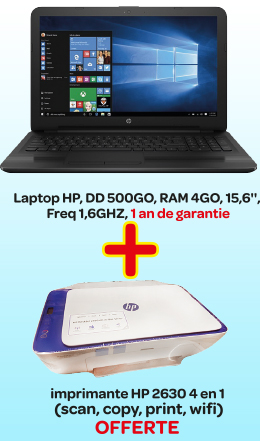 Laptop HP+ Imprimante HP 4 en 1