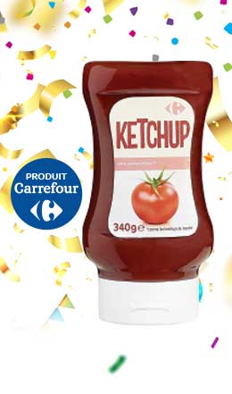 Ketchup souple Carrefour 360 g