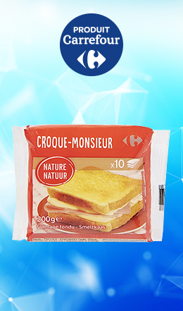Fromge croque-monsieur Carrefour (10x20g)