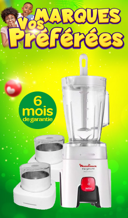 Blender Genuine MOULINEX + 2 Bols Secs 500W/1,5L