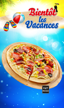 Pizza Jambon Fromage , 6/8
